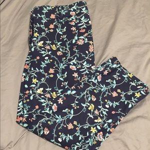 Loft floral pants.